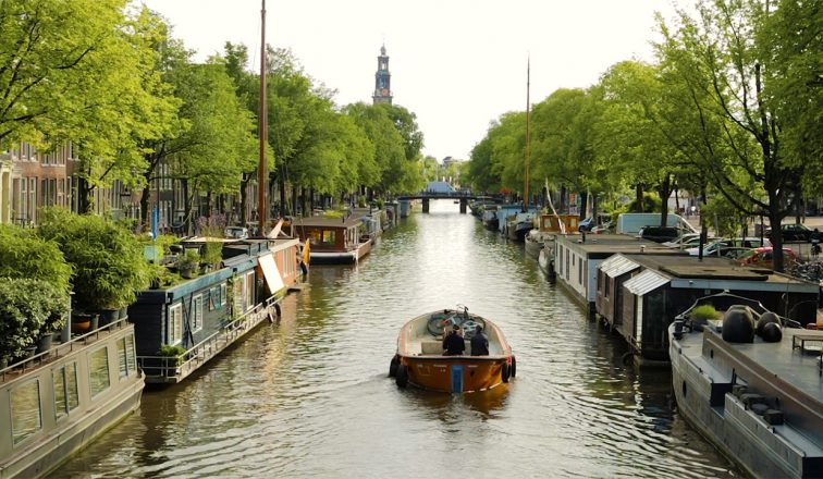 Rental Boat in Amsterdam Canal | Boating in Amsterdam | Travel Video | ANYDOKO