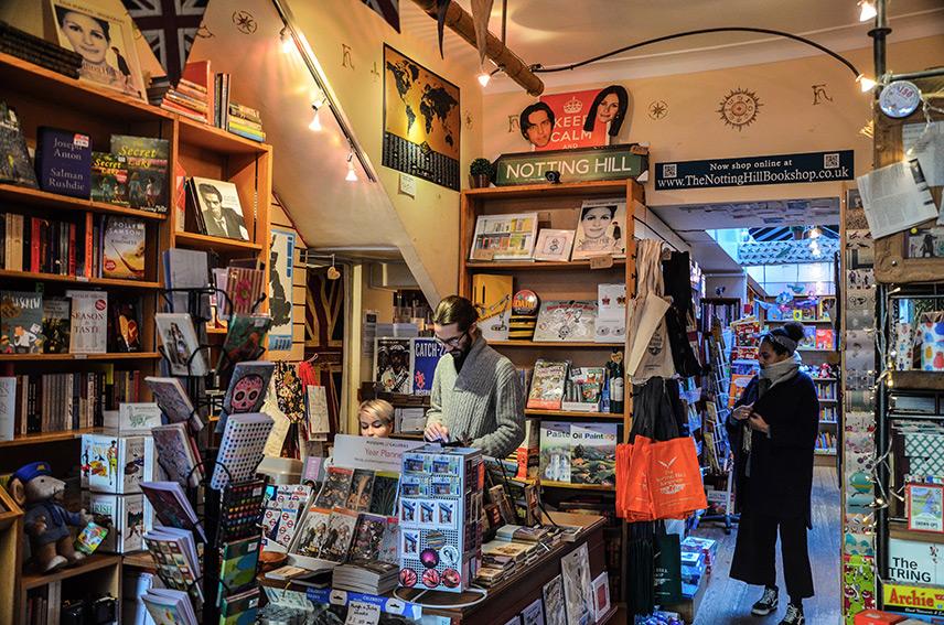 Notting Hill Bookshop Interior