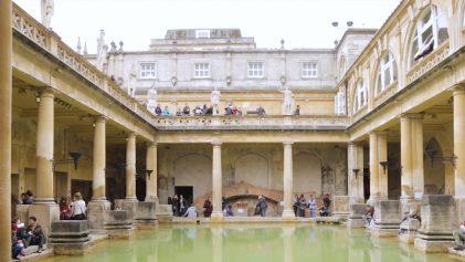 The Ancient Roman Baths Bath House | Beautiful Ancient Roman Baths | United Kingdom Travel Video | ANYDOKO