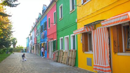 The Colourful Houses of Burano | Burano The Island of Colour | Italy Travel Video| ANYDOKO