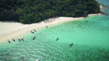 Phi Phi Islands Drone Image   Phi Phi Islands Must Do's   Thailand Travel Video   ANYDOKO