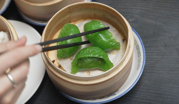 spinach dumpling dim sum at yum cha | Yum cha Tour In Hong Kong | Hong Kong Travel Video | ANYDOKO